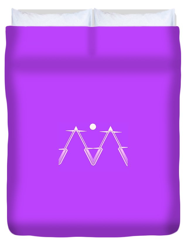 Moveonart! Global Gathering. -- Digital Abstract Art By Artist Jacob Kane -- Omnetra Duvet Cover featuring the digital art Moveonart Omnetraarchitecture by Jacob Kanduch