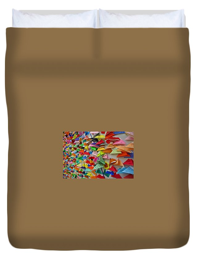 Japan Duvet Cover featuring the photograph Mt. Fuji Oragami by David Rucker