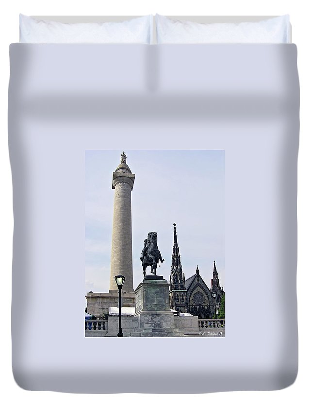 2d Duvet Cover featuring the photograph Mt. Vernon Landmarks by Brian Wallace