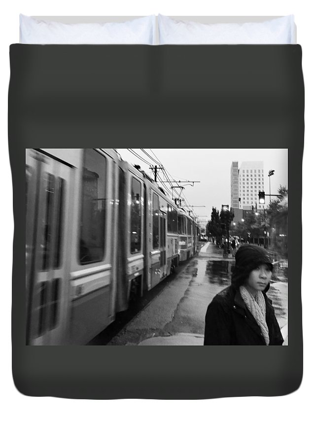 Mtba Duvet Cover featuring the photograph Mtba Commuter by Julie Niemela