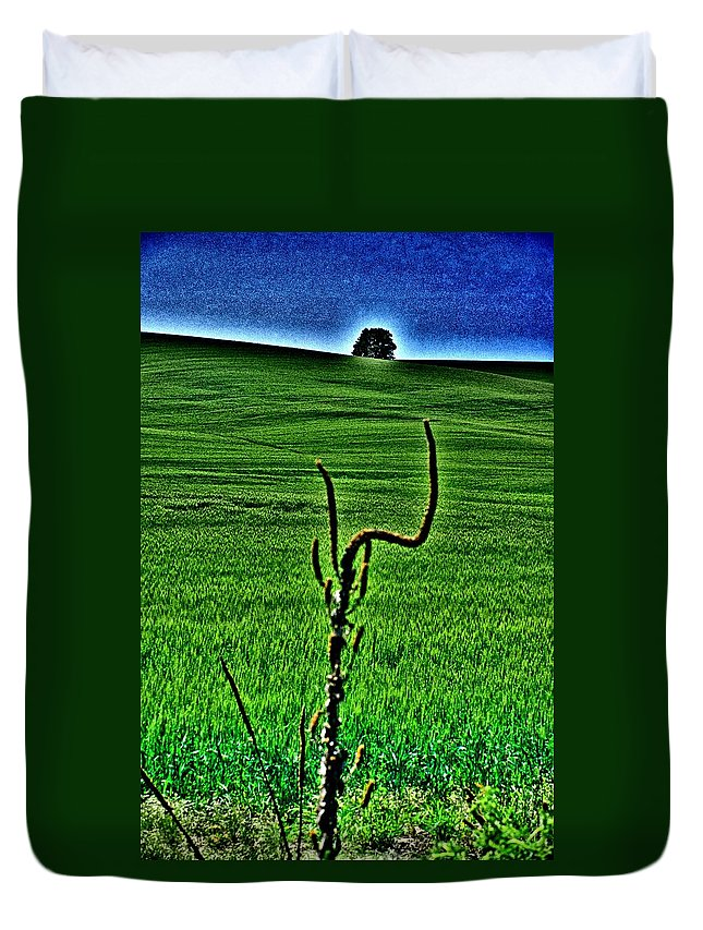 Mullein Duvet Cover featuring the photograph Mullein Frame by One Rude Dawg Orcutt