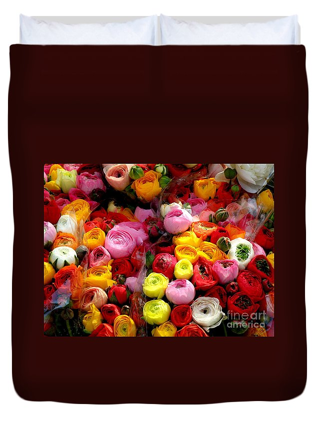 Flowers Duvet Cover featuring the photograph Multicolor by Lainie Wrightson
