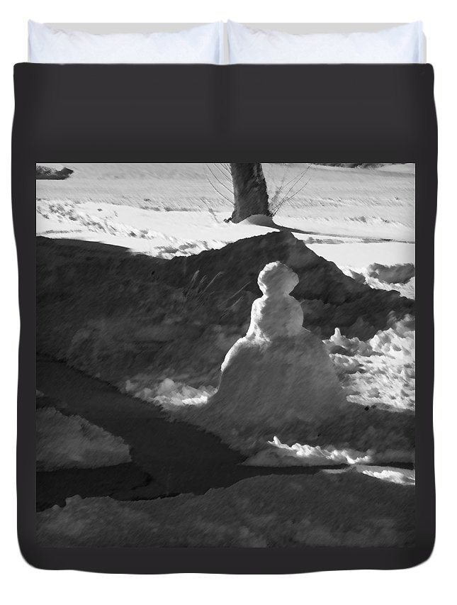 Abstract Duvet Cover featuring the photograph My New Neighbor 2 by Lenore Senior
