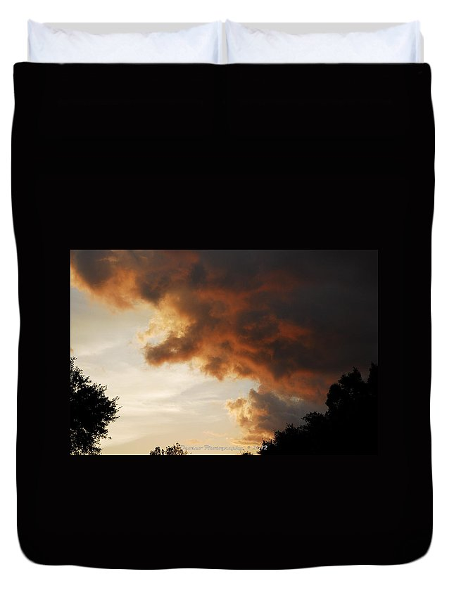 Canvas Duvet Cover featuring the photograph My Sunset I See Every Night by G Adam Orosco