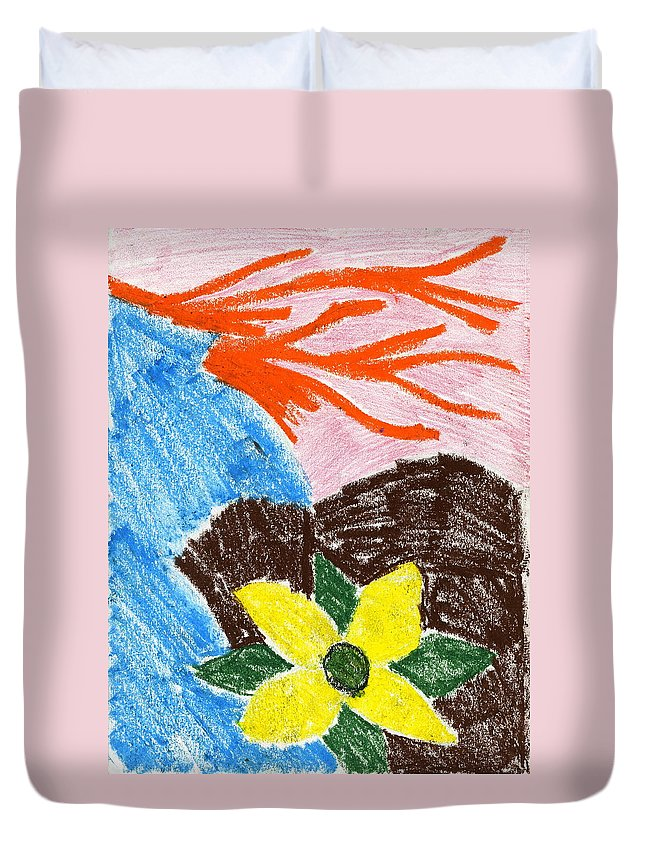 Mystic Flower Duvet Cover featuring the painting Mystic Flower by Taylor Webb