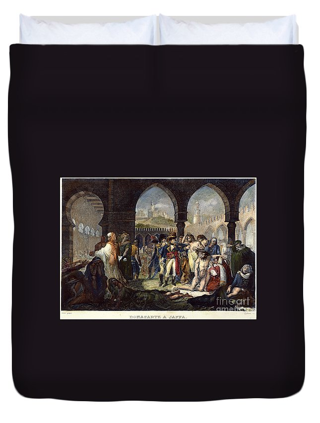1799 Duvet Cover featuring the photograph Napoleon In Jaffa, 1799 by Granger