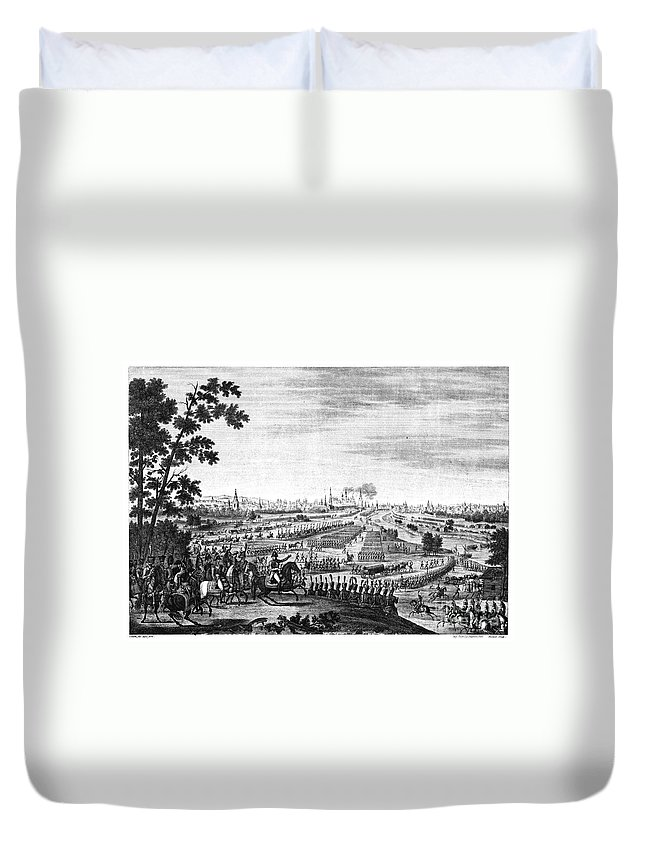 1812 Duvet Cover featuring the photograph Napoleon: Moscow, 1812 by Granger
