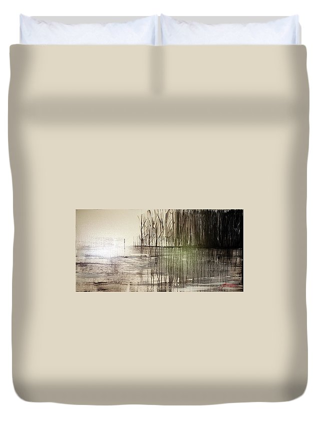 Jack Duvet Cover featuring the painting Natural Abstract 2 by Jack Diamond