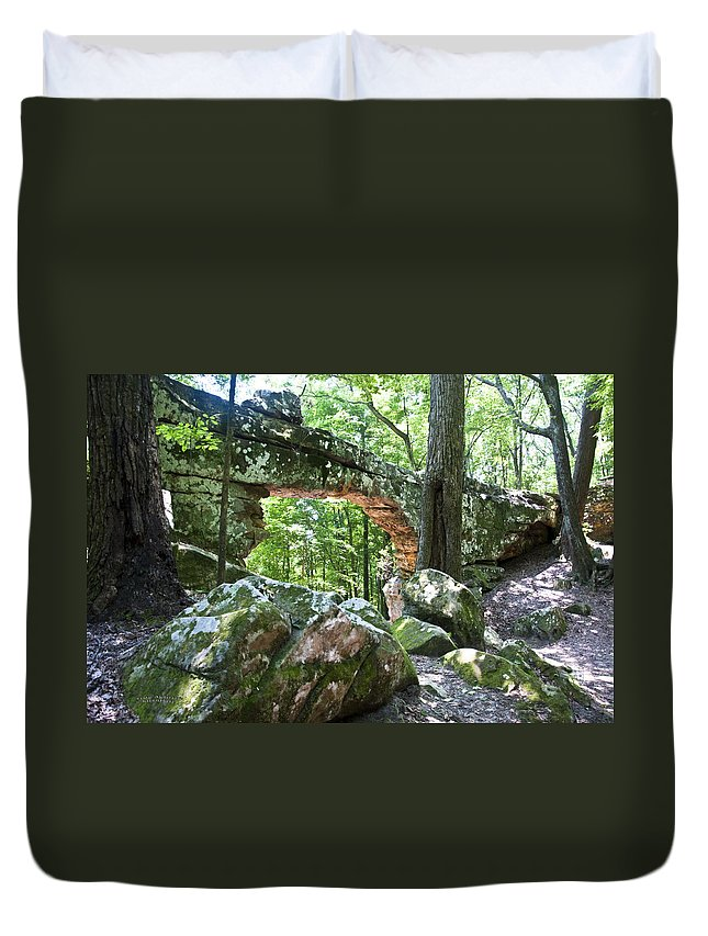Natural Bridge Duvet Cover featuring the photograph Natural Bridge by Terry Anderson