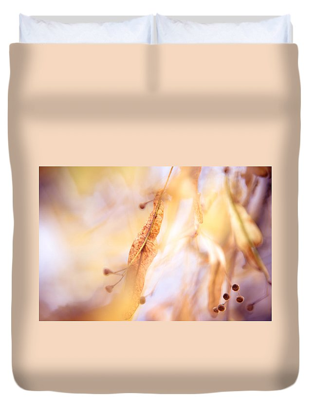 Autumn Duvet Cover featuring the photograph Natural Watercolor Of Autumn II by Jenny Rainbow