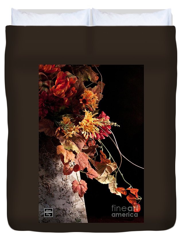 Dinah Anaya Duvet Cover featuring the digital art Nature In Autnmn II by Dinah Anaya