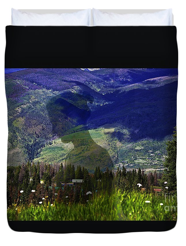 Landscape Duvet Cover featuring the photograph Nature's Child by Madeline Ellis