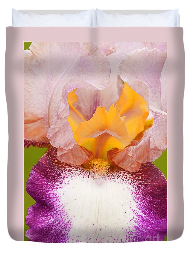 Iris Duvet Cover featuring the photograph Nature's Magic by Regina Geoghan