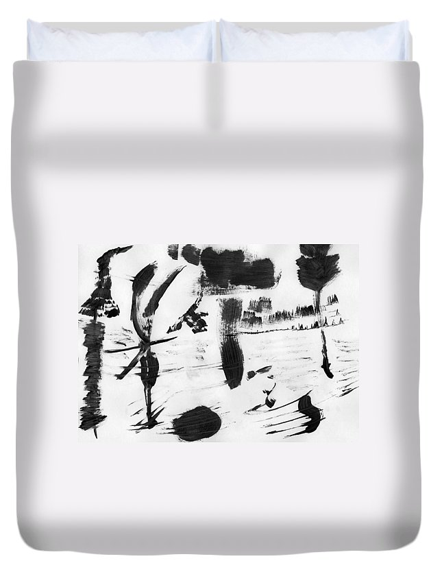 Nature's Slavery Duvet Cover featuring the painting Nature's Slavery by Taylor Webb