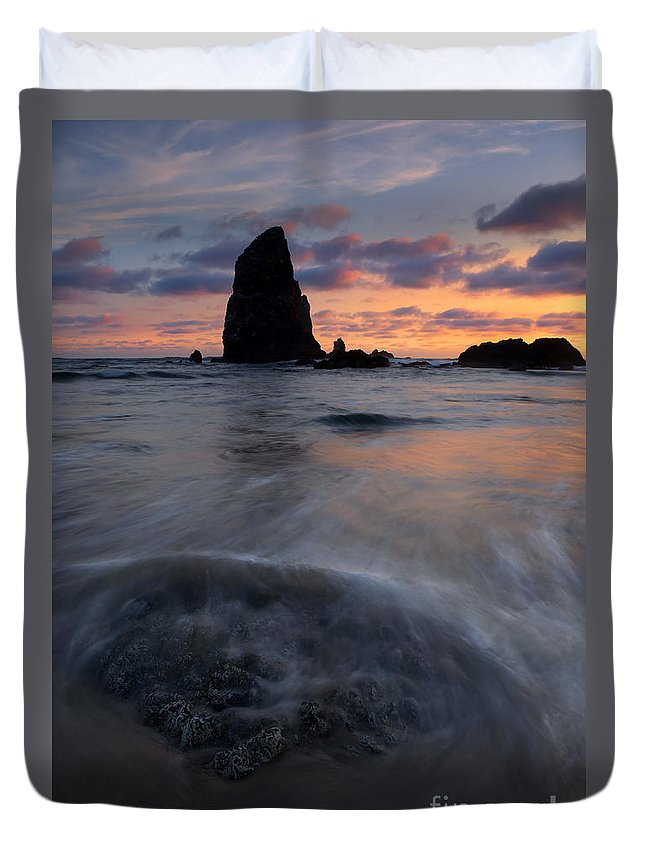 Needles Duvet Cover featuring the photograph Needles Sundown by Mike Dawson