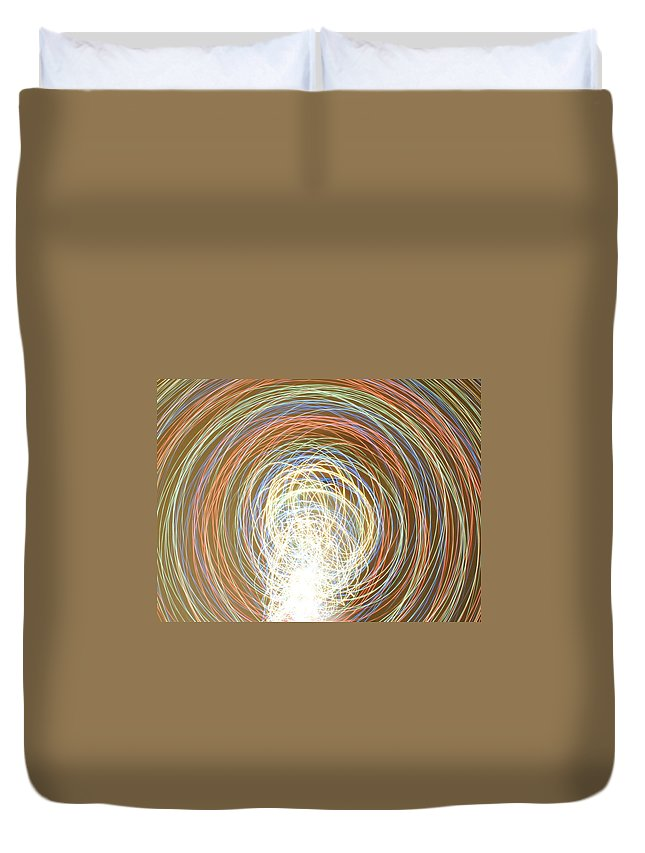 Neon Light Duvet Cover featuring the photograph Neon Lights Spinning by Sumit Mehndiratta