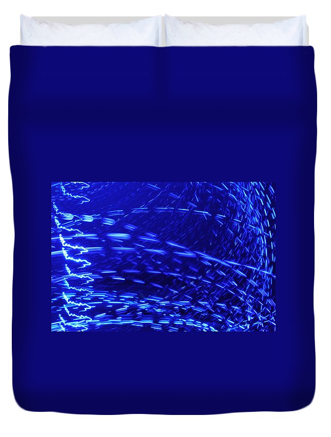Neon Light Duvet Cover featuring the photograph Neon Lights by Sumit Mehndiratta