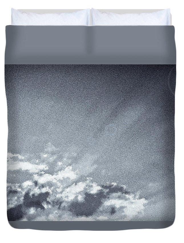 Sky Duvet Cover featuring the digital art Neptune Sky by David Pyatt