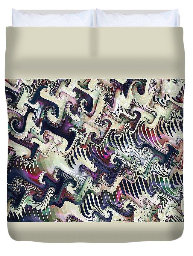 Fractal Duvet Cover featuring the digital art Neural Correlate by Richard Kelly
