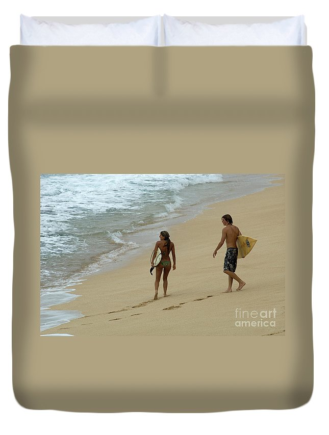 Winter Duvet Cover featuring the photograph Never Ending Summer by Bob Christopher