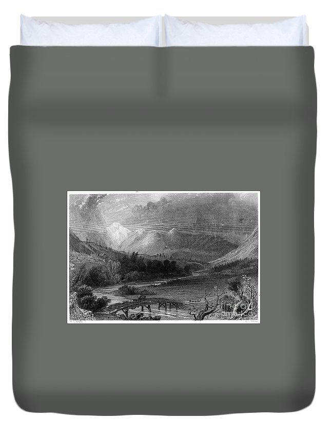 1838 Duvet Cover featuring the photograph New Hampshire, 1838 by Granger
