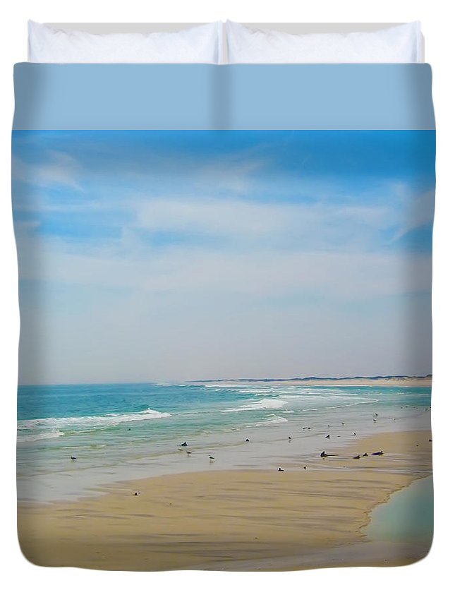 Beach Duvet Cover featuring the photograph New Jersey And You by Bill Cannon