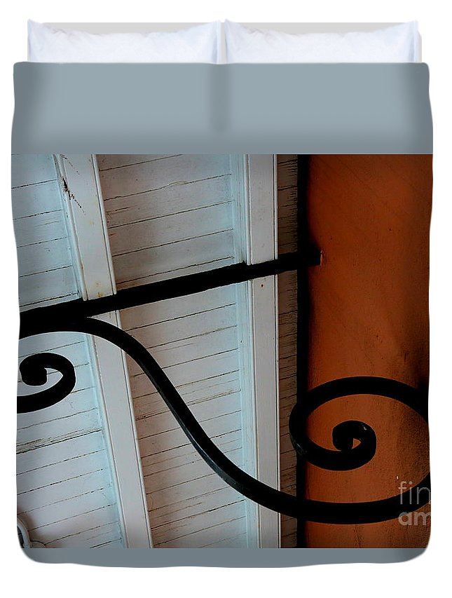 New Orleans Duvet Cover featuring the photograph New Oleans White And Orange by Carol Groenen