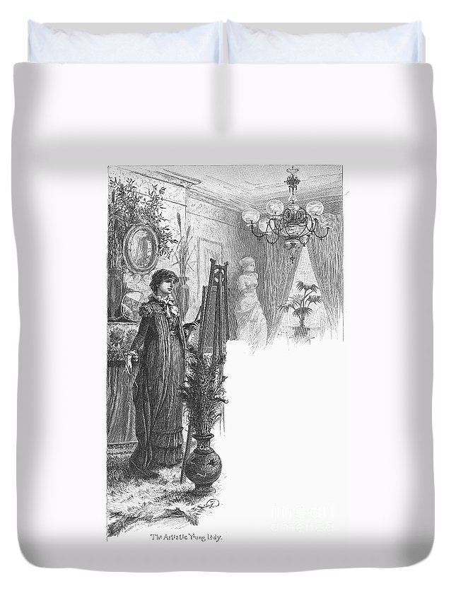 1882 Duvet Cover featuring the photograph New York: Artist, 1882 by Granger