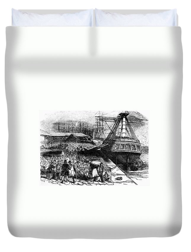 1854 Duvet Cover featuring the photograph New York: Immigrants, 1854 by Granger
