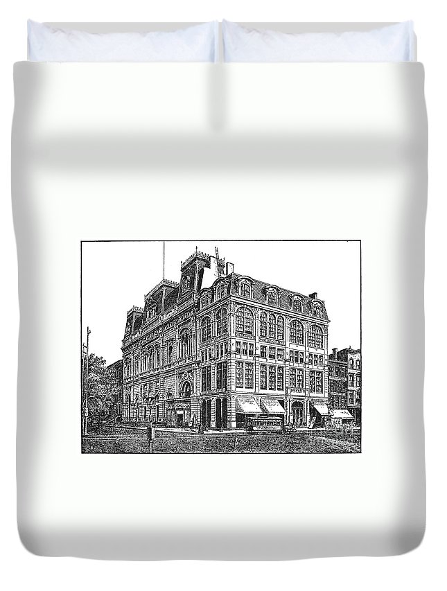 1869 Duvet Cover featuring the photograph New York: Theater, 1869 by Granger