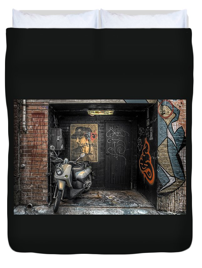 Niche Duvet Cover featuring the photograph Niche by Wayne Sherriff
