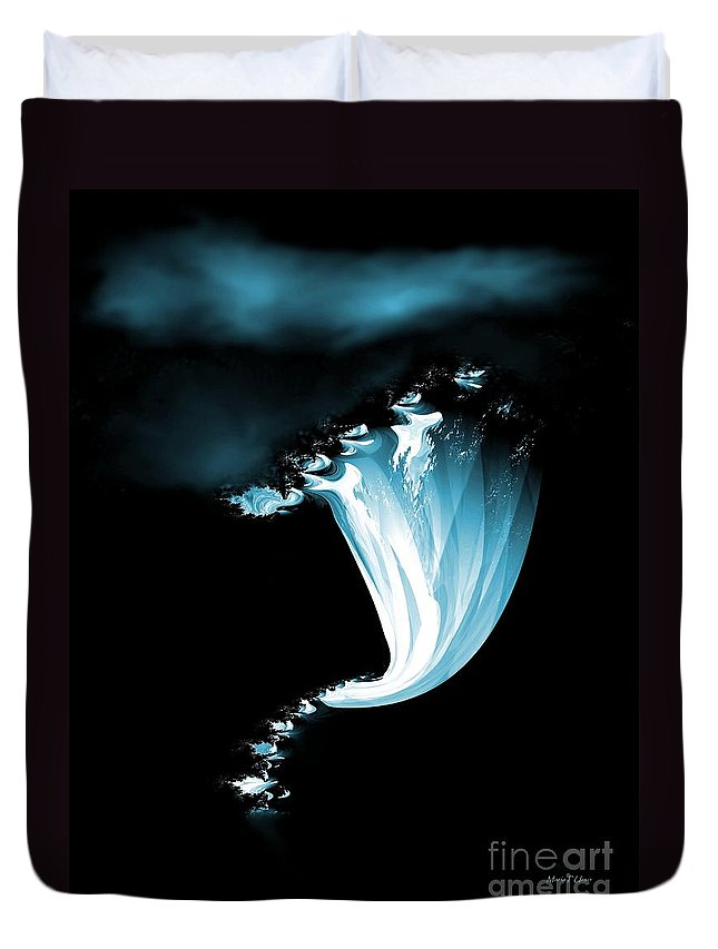 Night Duvet Cover featuring the digital art Night Of The Whirlwind by Maria Urso