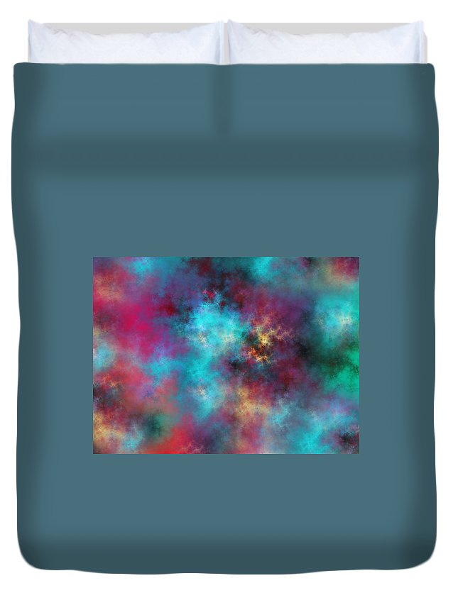 Fractal Duvet Cover featuring the digital art Night Sky by Betsy Knapp