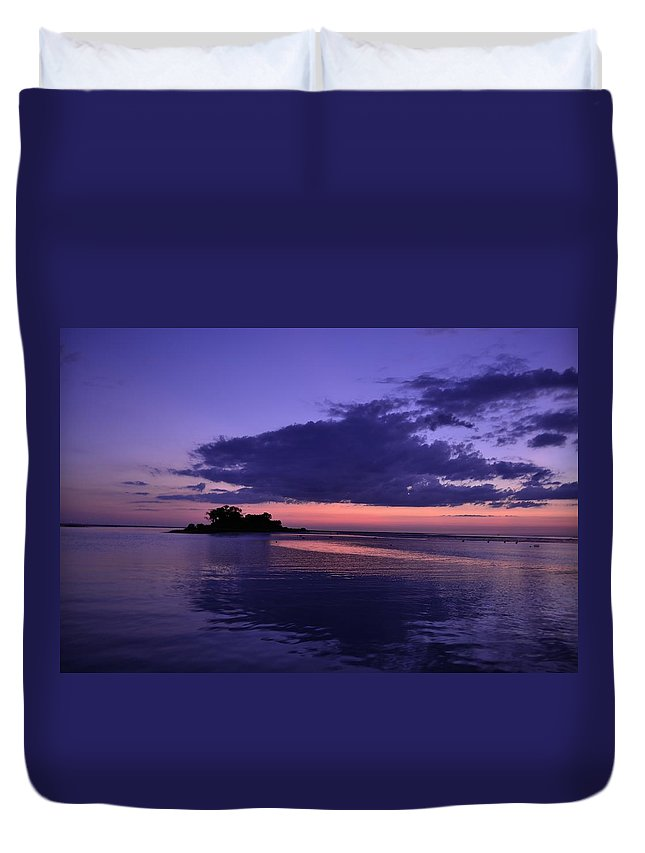 Duvet Cover featuring the photograph Nightfall by Kari Tedrick