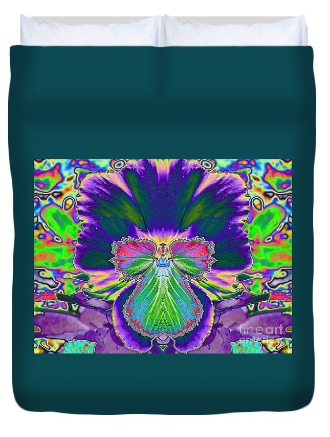 Star Photographs Duvet Cover featuring the photograph No Pansy Here by Art Dingo