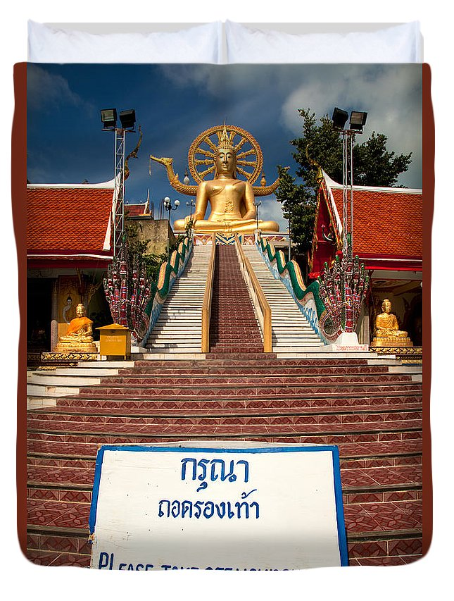 Buddha Duvet Cover featuring the photograph No Shoes by Adrian Evans
