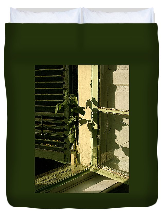 Window Duvet Cover featuring the photograph Non Rosa by Tila Gun
