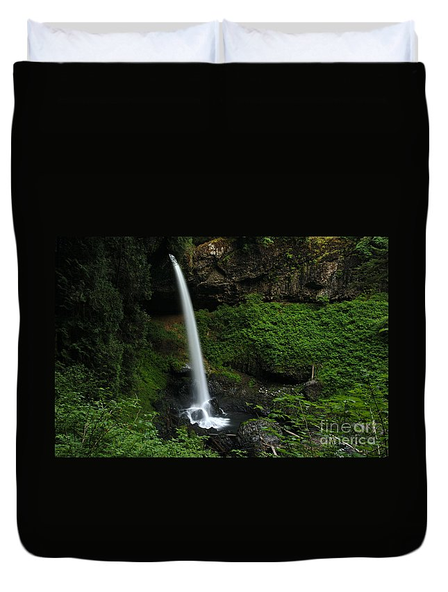 North Falls Duvet Cover featuring the photograph North Falls Oregon by Bob Christopher