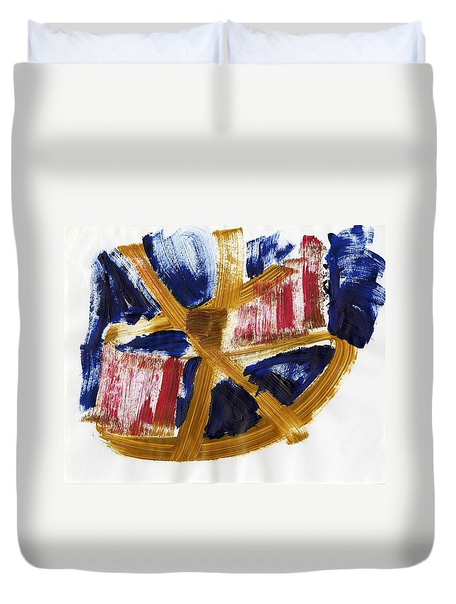 Nostic Thought Duvet Cover featuring the painting Nostic Thought by Taylor Webb