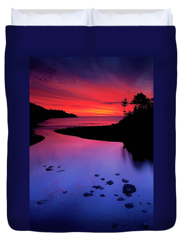 Nova Scotia Duvet Cover featuring the photograph Nova Scotia Sunrise by Dave Mills