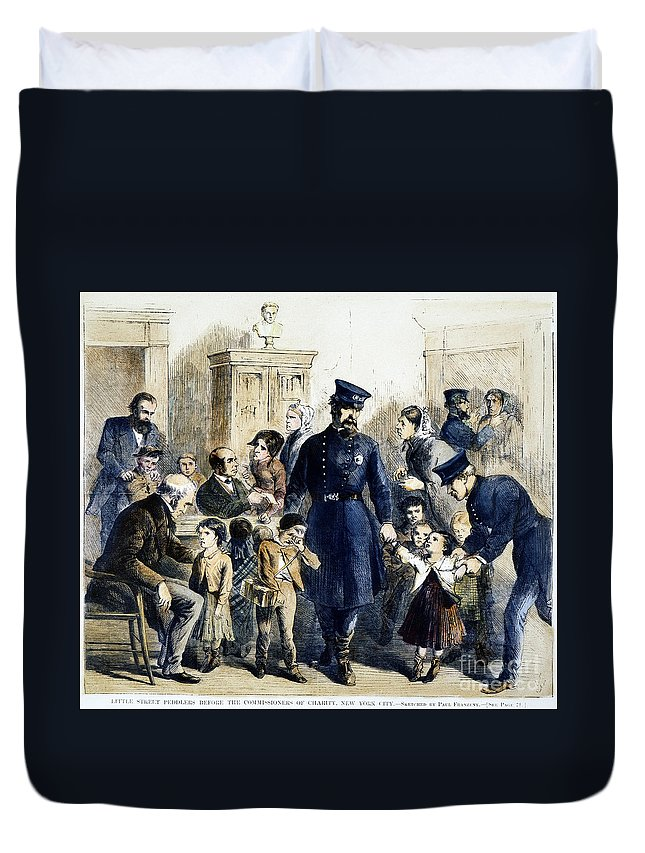 1864 Duvet Cover featuring the photograph Ny Slum Children, 1864 by Granger