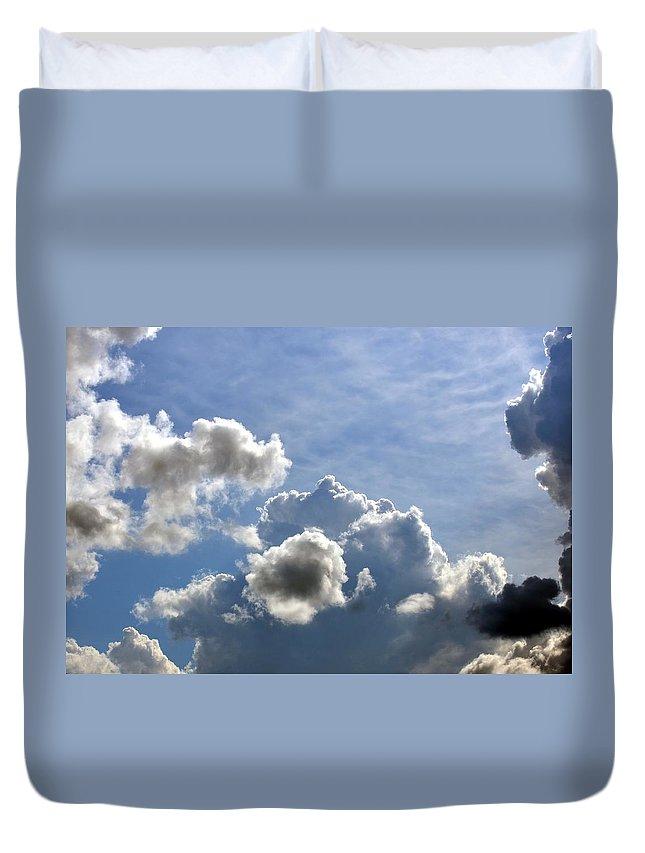 Spacious Duvet Cover featuring the photograph O Spacious Skies by Maria Urso