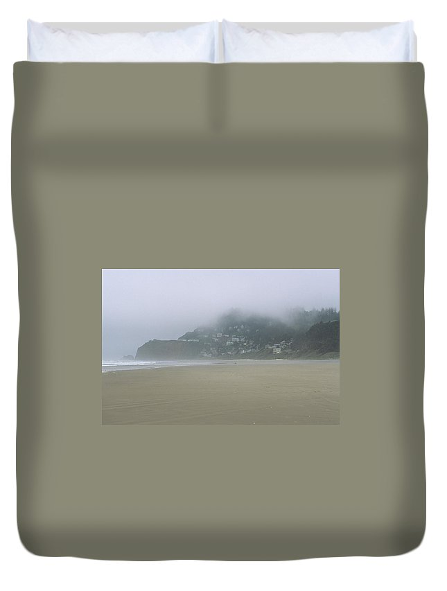 Ocean Duvet Cover featuring the photograph Oceanside Oregon by One Rude Dawg Orcutt
