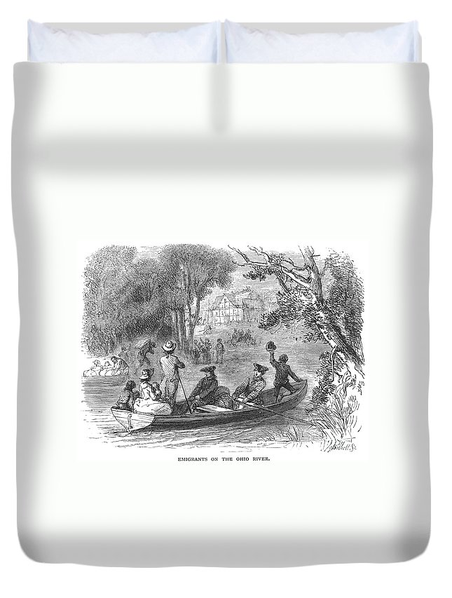 1790s Duvet Cover featuring the photograph Ohio River: Emigrants by Granger