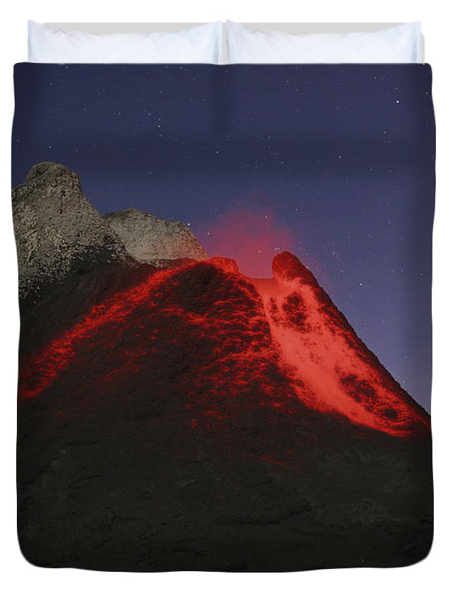No People Duvet Cover featuring the photograph Ol Doinyo Lengai Eruption, Rift Valley by Martin Rietze