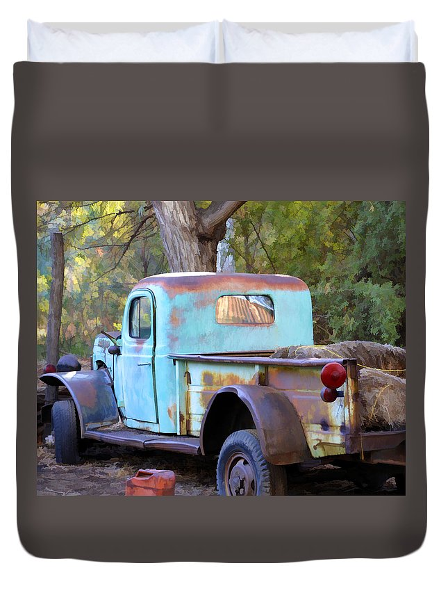 Truck Duvet Cover featuring the photograph Old But Classic by Diane Wood