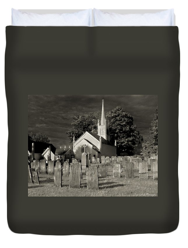Church Duvet Cover featuring the photograph Old Church Yard by Fran Gallogly