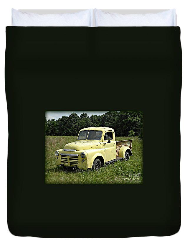 Dodge Duvet Cover featuring the photograph Old Dodge In Mo by Tisha Clinkenbeard