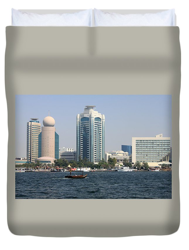 Old Duvet Cover featuring the photograph Old Dubai by Munir Alawi