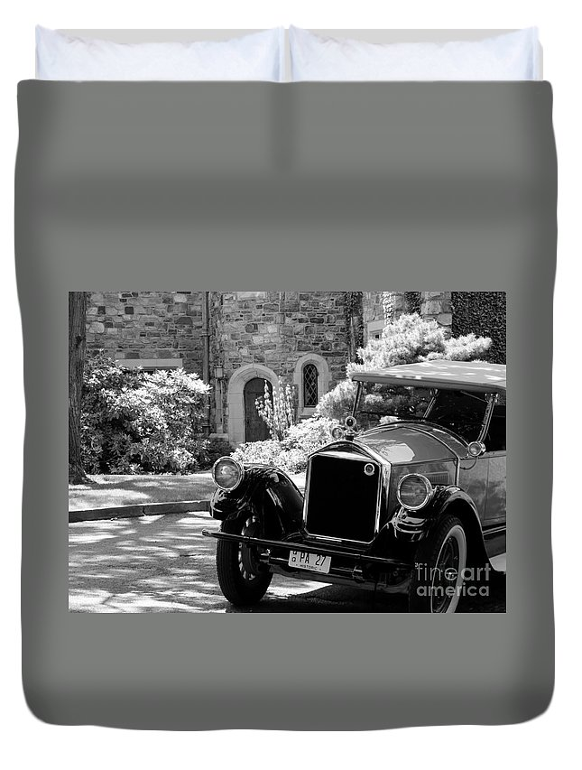 Model Photographs Duvet Cover featuring the photograph Old Ford by Art Dingo